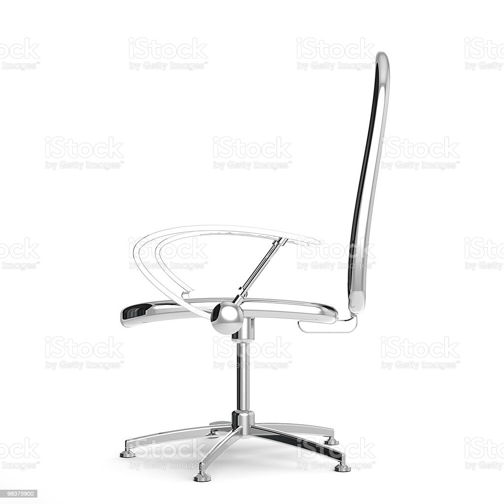 Rendered 3d reflective chair royalty-free stock photo
