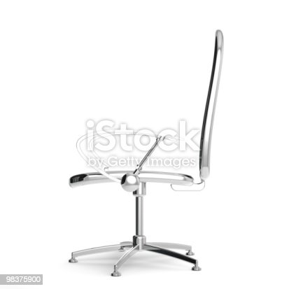 Rendered 3d Reflective Chair Stock Photo & More Pictures of Business