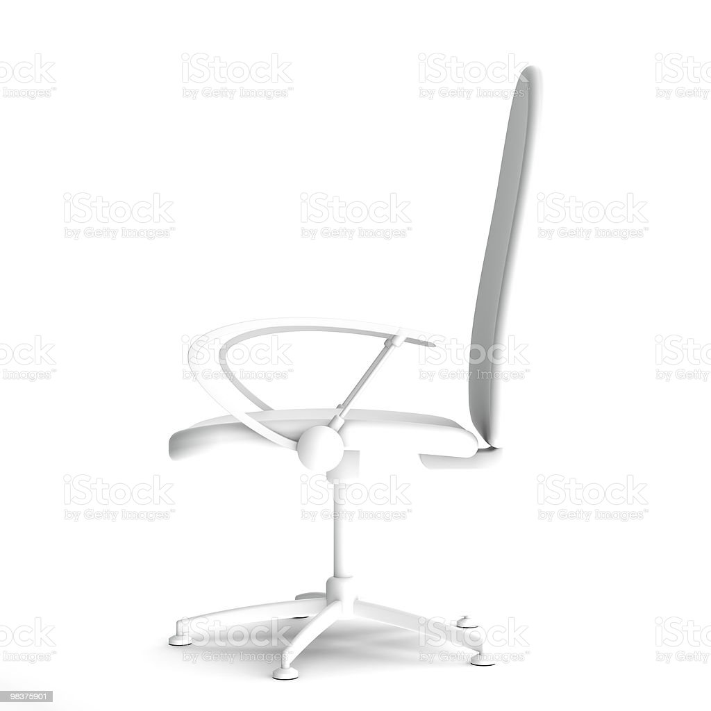 Rendered 3d white chair royalty-free stock photo