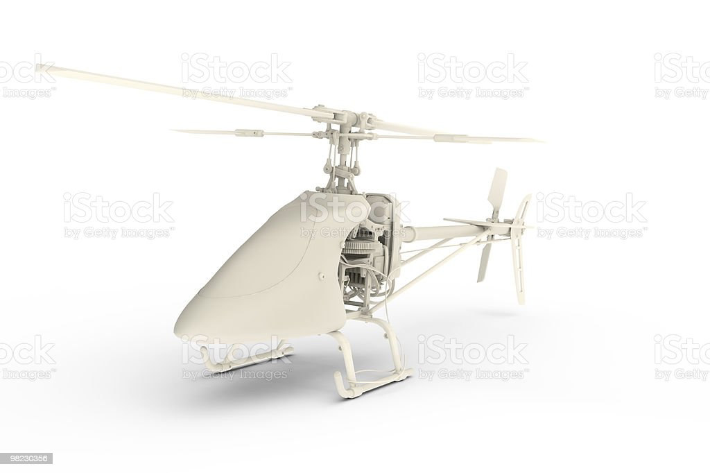 Rendered 3D white toy plane royalty-free stock photo