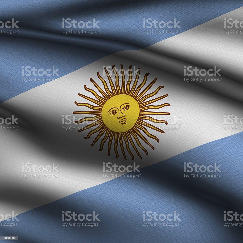 Rendered Argentine Square Flag stock photo