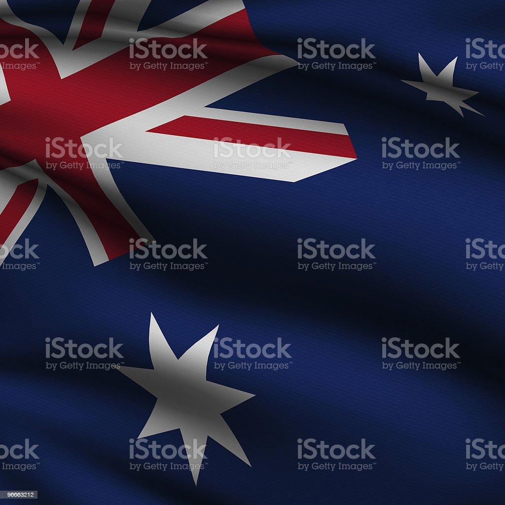 Rendered Australian Square Flag royalty-free stock photo