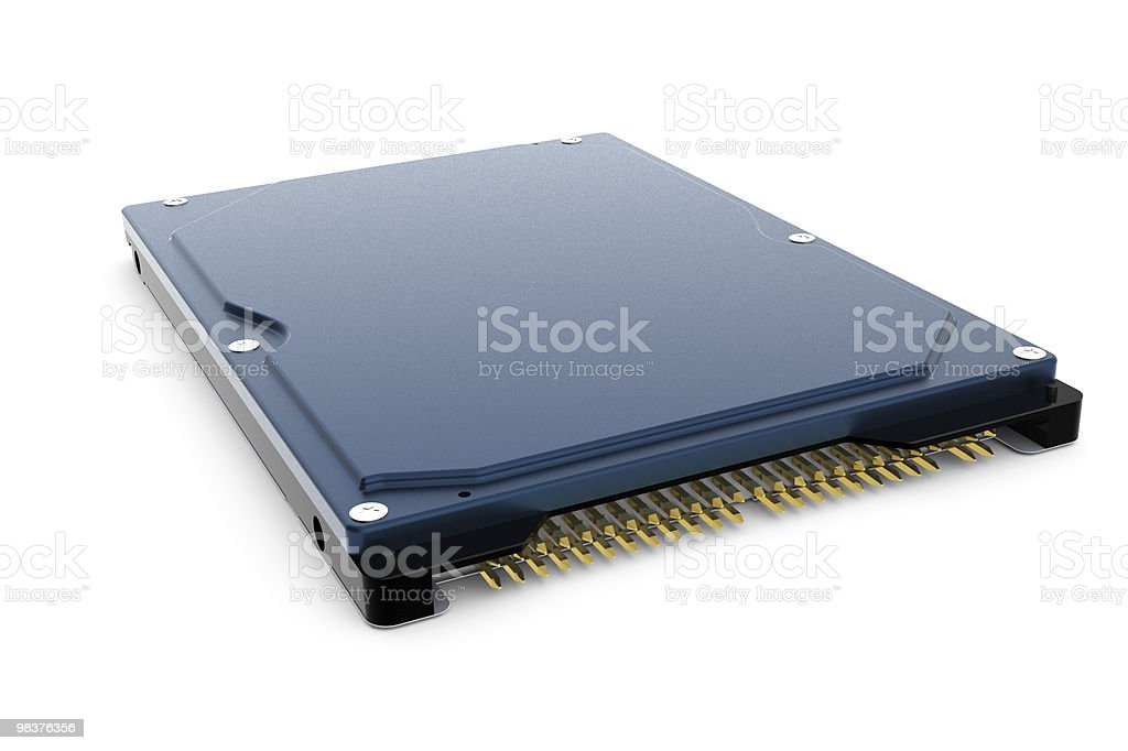 Rendered blue 3d computer hard disk drive royalty-free stock photo
