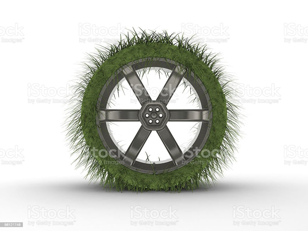 Rendered car tire royalty-free stock photo