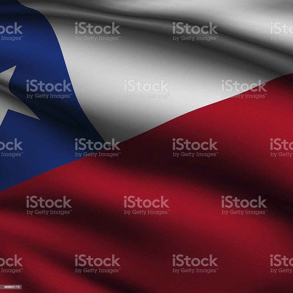 Rendered Chilean Square Flag royalty-free stock photo