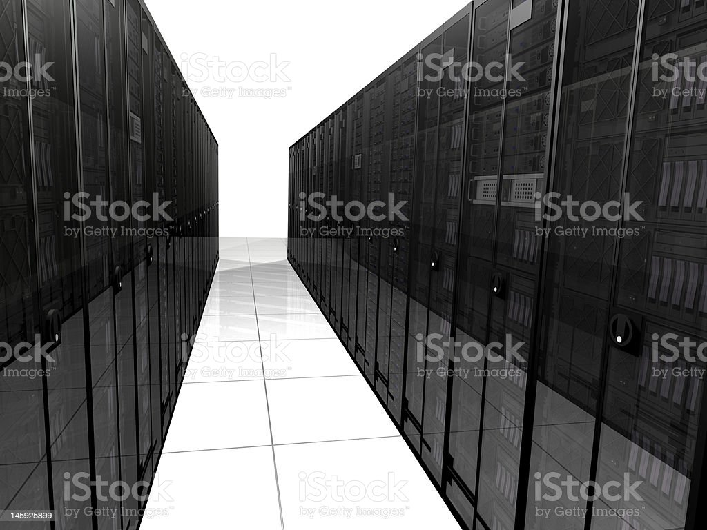 3D Rendered Data Center royalty-free stock photo