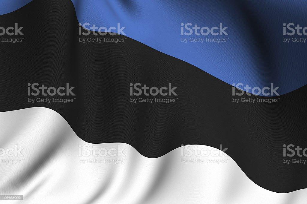 Rendered Estonian Flag stock photo
