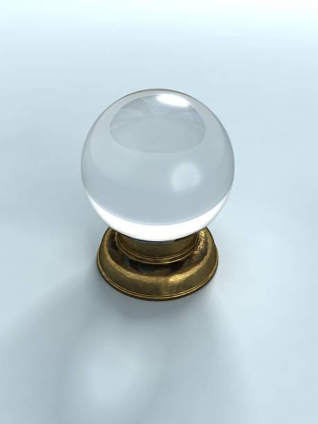 3 d grafik aus der crystal ball - zukunftswünsche stock-fotos und bilder