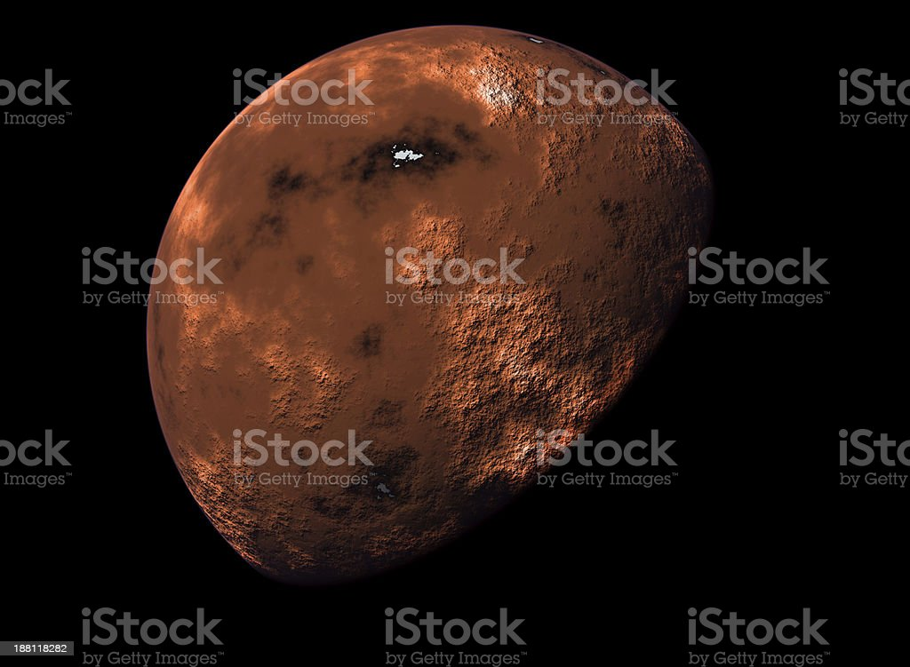 rendered image of the planet Mars stock photo