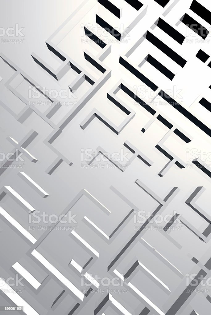 Из 3 D лабиринт Стоковые фото Стоковая фотография