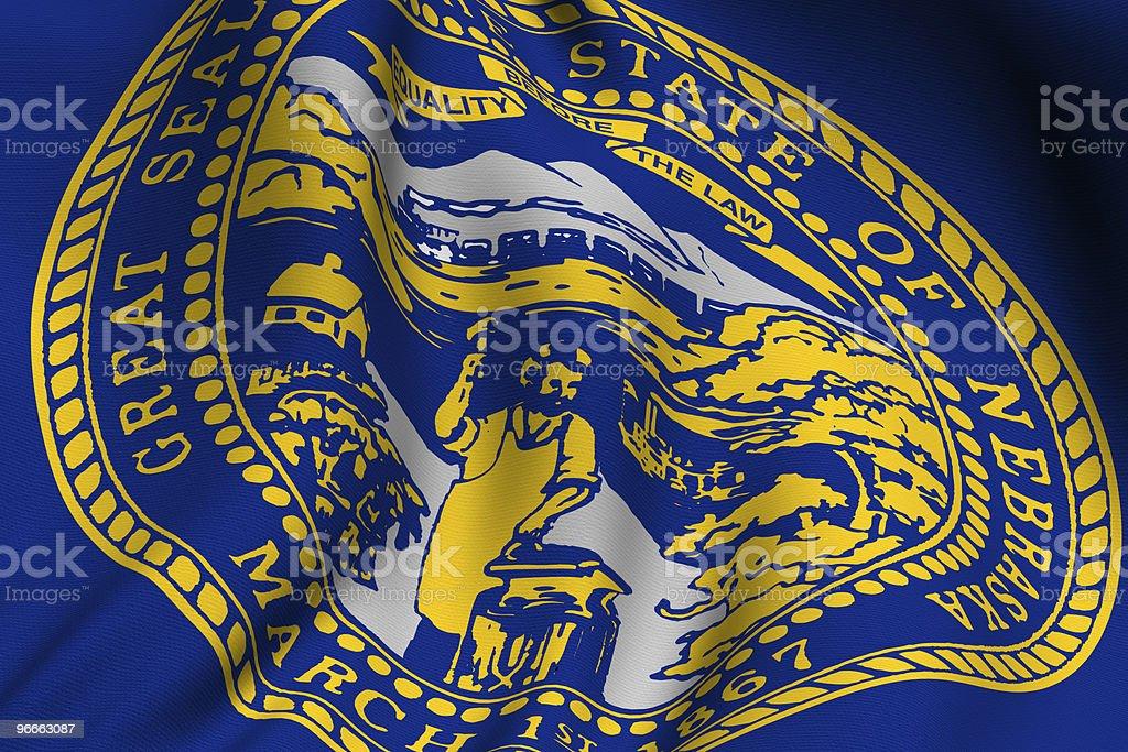 Rendered Nebraska Flag royalty-free stock photo