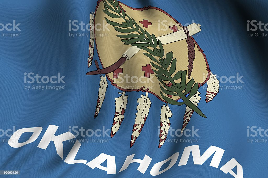 Rendered Oklahoma Flag royalty-free stock photo
