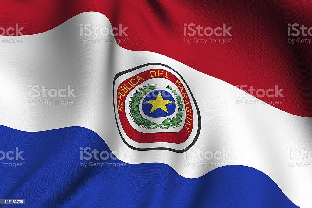 Prestado bandera paraguaya - foto de stock