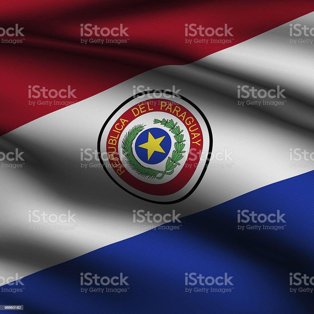 Prestado bandera paraguaya Square - foto de stock