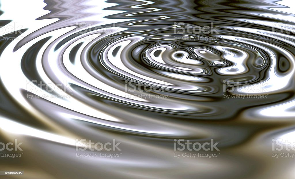 Rendered picture of metalic waves royalty-free stock photo