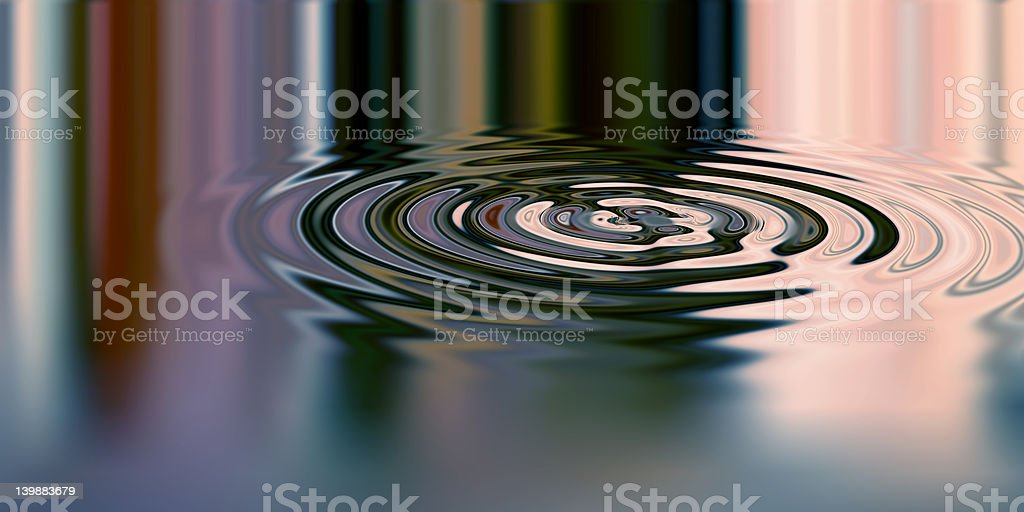 Rendered picture of  waves stock photo