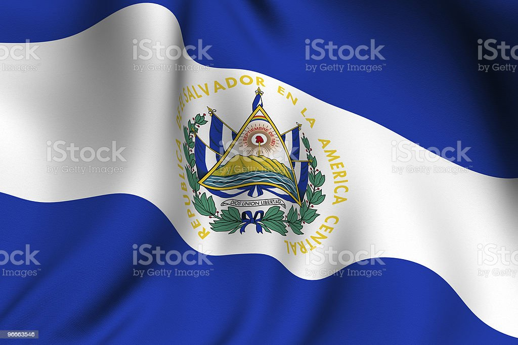 Rendered Salvadoran Flag royalty-free stock photo