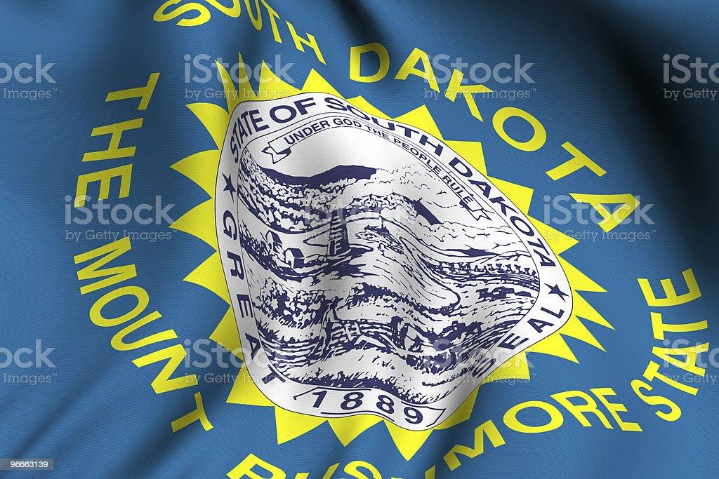 Rendered South Dakota Flag stock photo