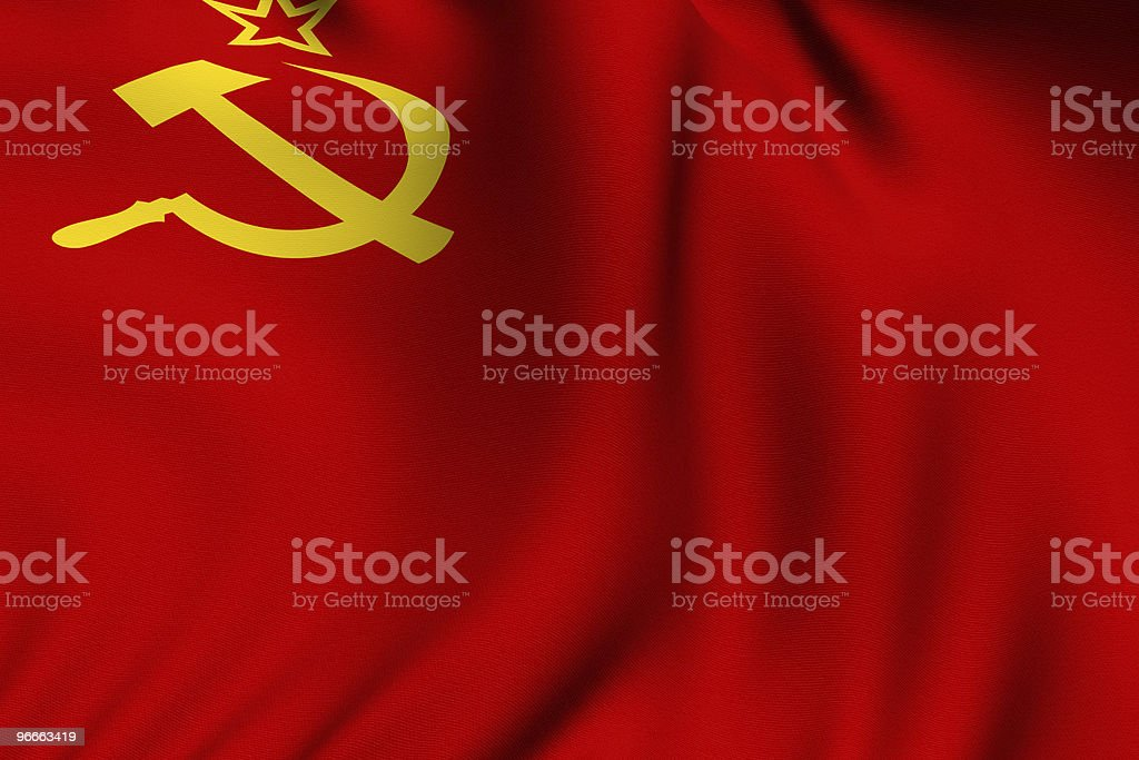 Rendered Soviet Flag royalty-free stock photo