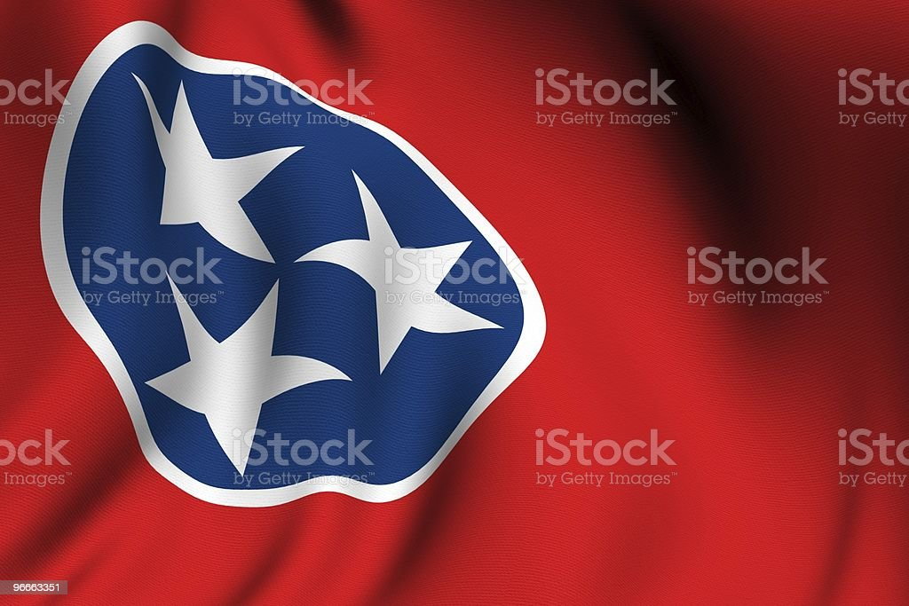Rendered Tennessee Flag royalty-free stock photo