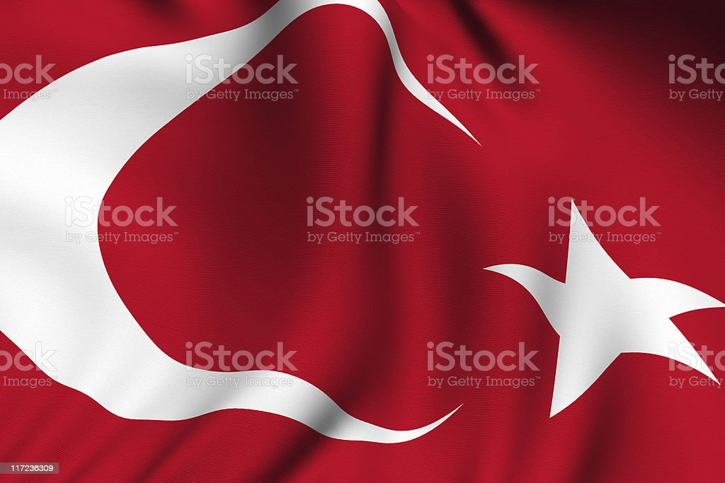 Rendered Turkish Flag stock photo