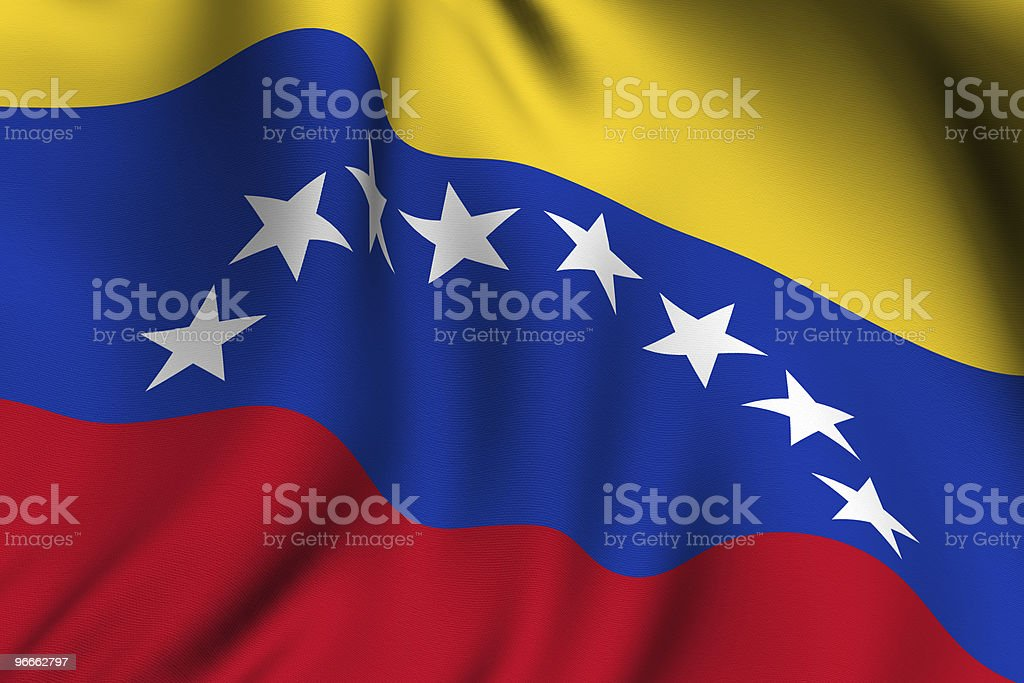 Rendered Venezuelan Flag  Blue Stock Photo