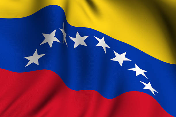 rendered venezuelan flag - venezuelan flag stock photos and pictures