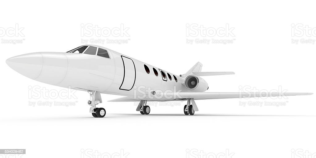 3D renderinf of airplane on white background - Photo