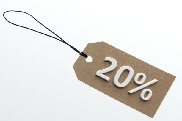 3D rendering 20 per cent stock photo
