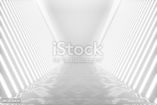 962326404istockphoto 3D rendering abstract room interior with neon lights. Futuristic architecture background. Mock-up for your design project 962326424