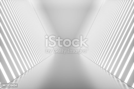 962326404istockphoto 3D rendering abstract room interior with neon lights. Futuristic architecture background. Mock-up for your design project 962326434