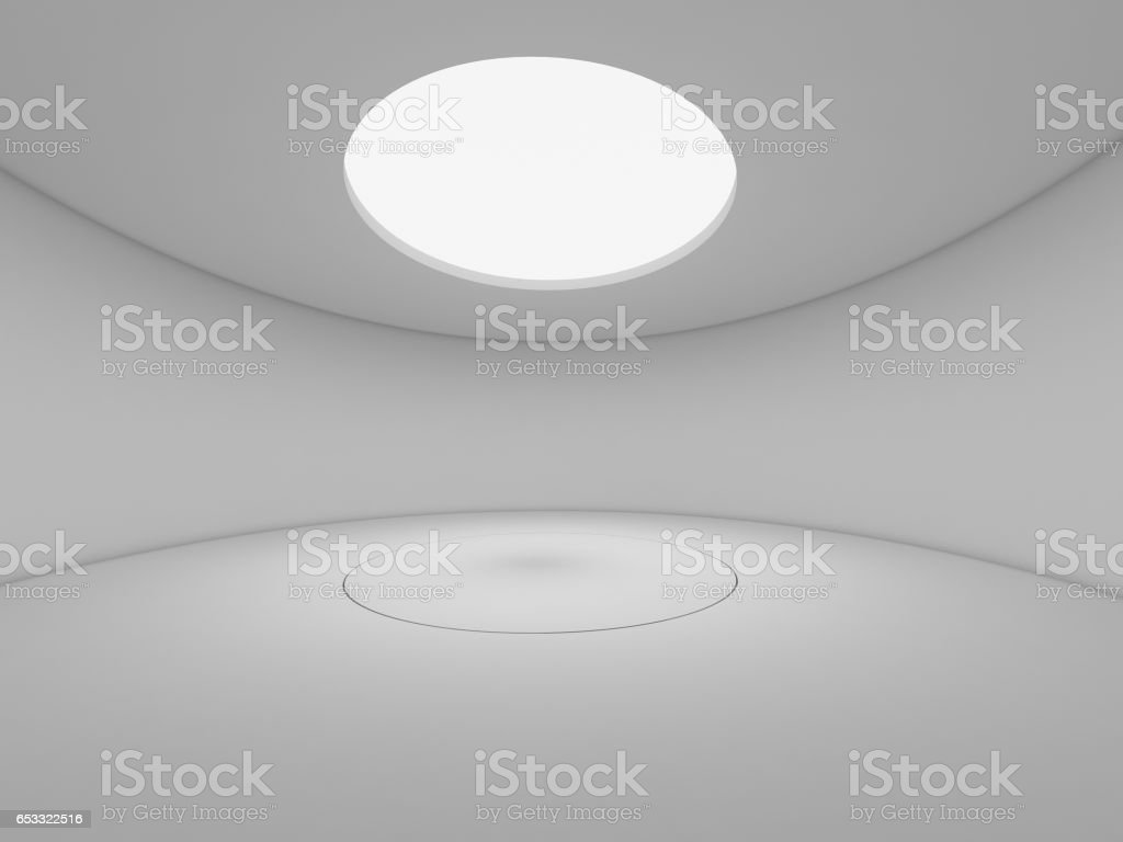 3D Rendering abstract white design space, illustration interior stock photo