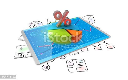 istock 3D Rendering analysis of financial data in charts 524713152