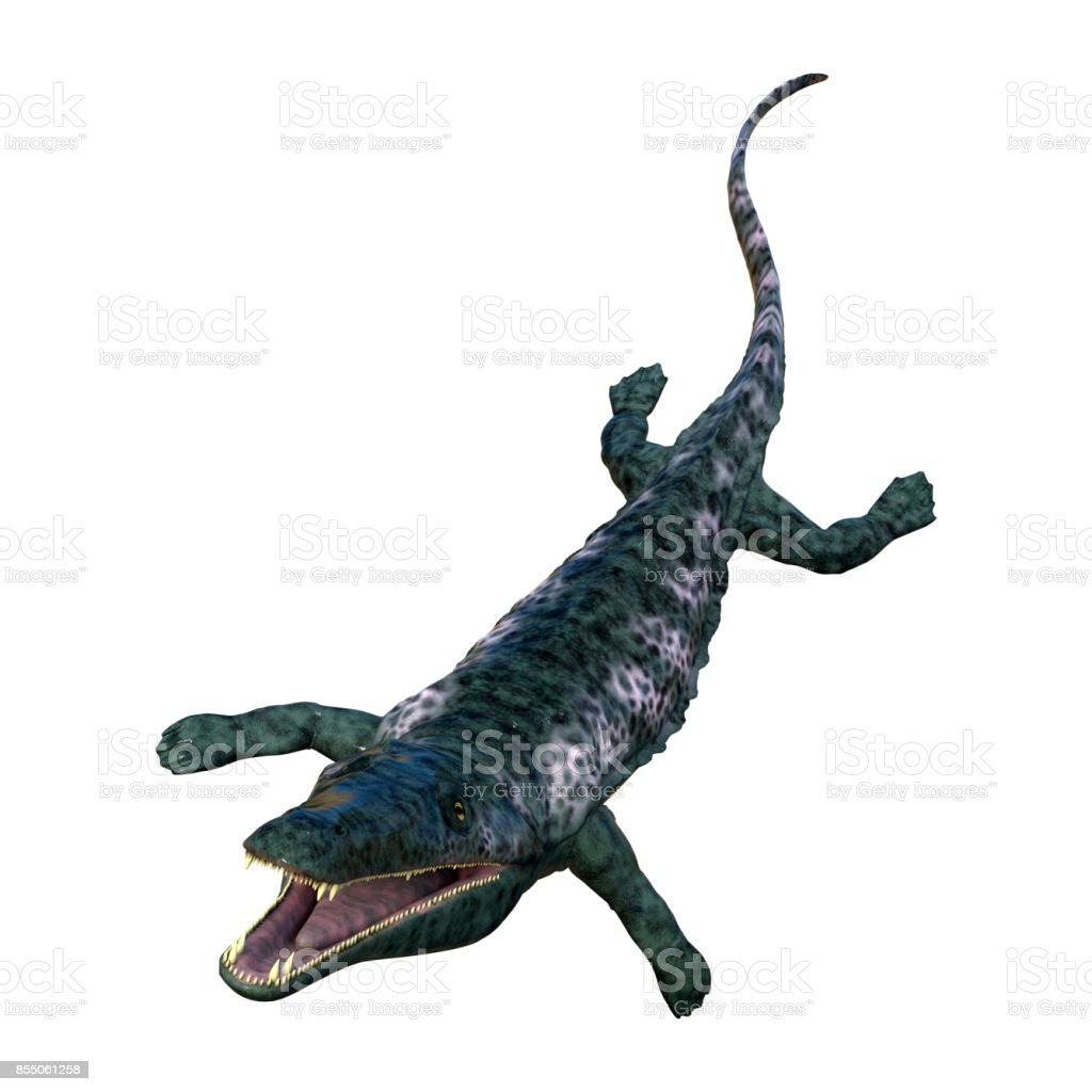 3D rendering Archegosaurus on white stock photo