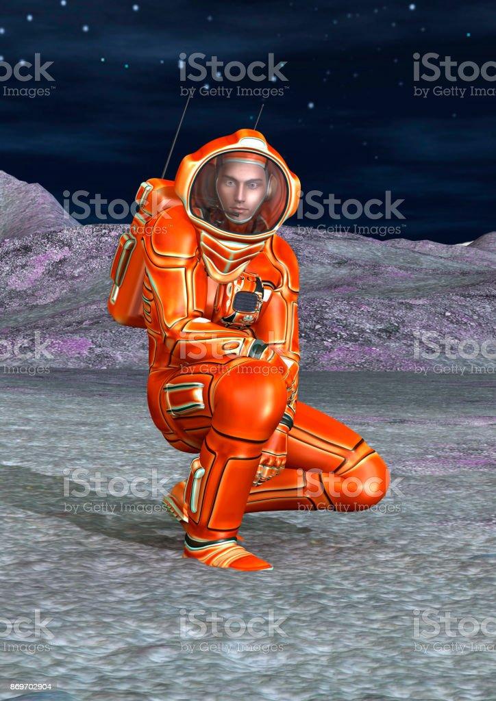 3D rendering astronaut stock photo