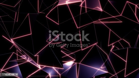 884384640istockphoto 3D rendering background of abstract geometric triangles 1163803816