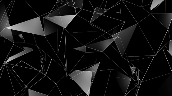 904312598 istock photo 3D rendering background of abstract geometric triangles 1163803831
