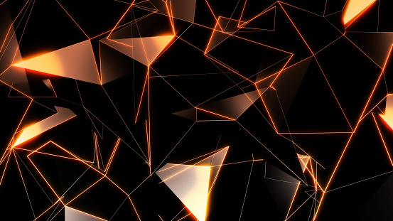 904312598 istock photo 3D rendering background of abstract geometric triangles 1163804380