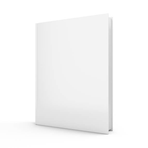 renderowanie 3d pustej książki na białym tle - pustka zdjęcia i obrazy z banku zdjęć