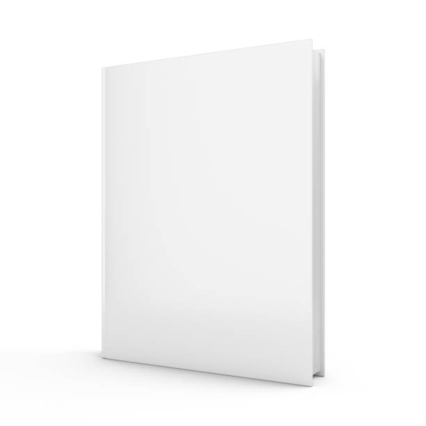 3D rendering blank book on white background stock photo