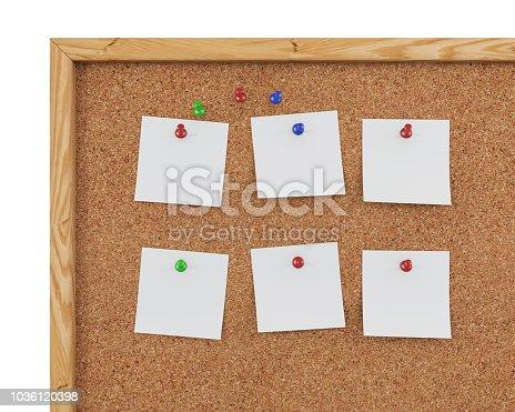 1125351850 istock photo 3D Rendering Blank Cork Board - Cork Background 1036120398