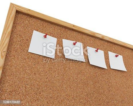 1125351850 istock photo 3D Rendering Blank Cork Board - Cork Background 1036120432
