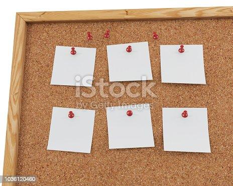 1125351850 istock photo 3D Rendering Blank Cork Board - Cork Background 1036120460