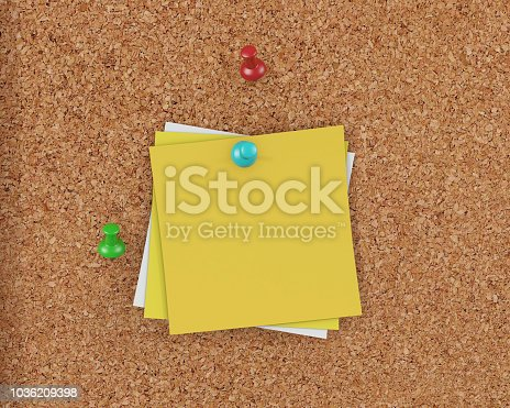 1125351850 istock photo 3D Rendering Blank Cork Board - Cork Background 1036209398