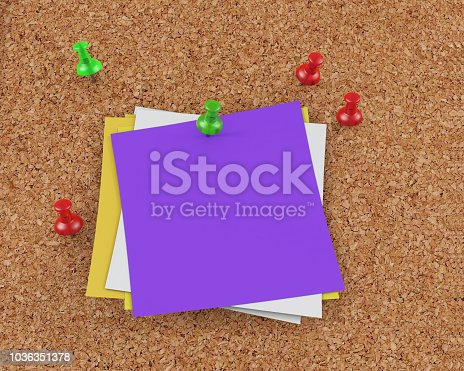 1125351850 istock photo 3D Rendering Blank Cork Board - note mock-up 1036351378