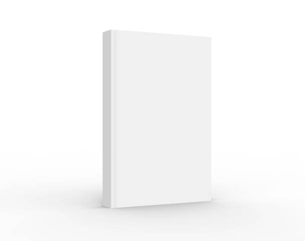 3D rendering book mockup 3D rendering book mockup, blank hardcover book for design isolated on white background hardcover book stock pictures, royalty-free photos & images