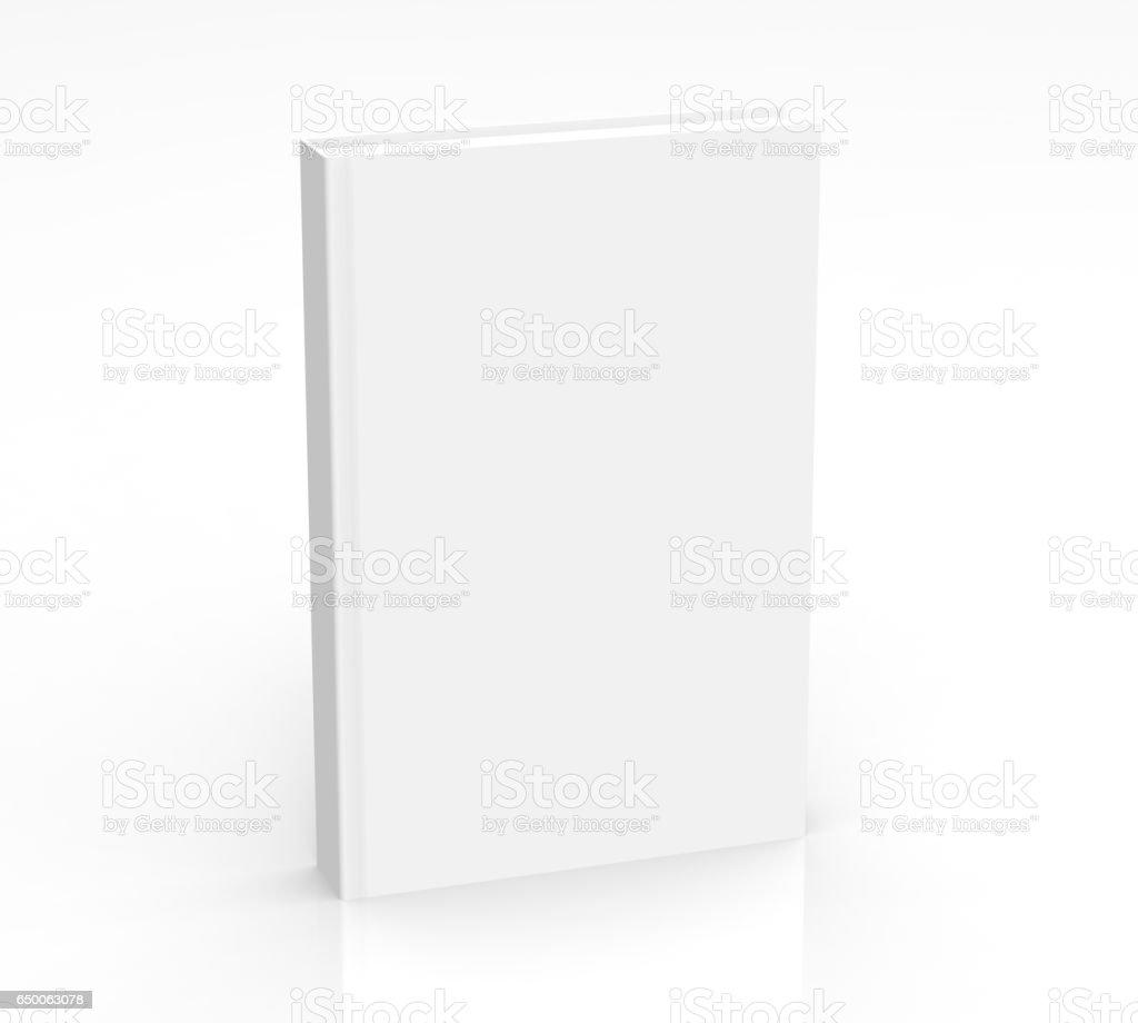 3D rendering book mockup stock photo