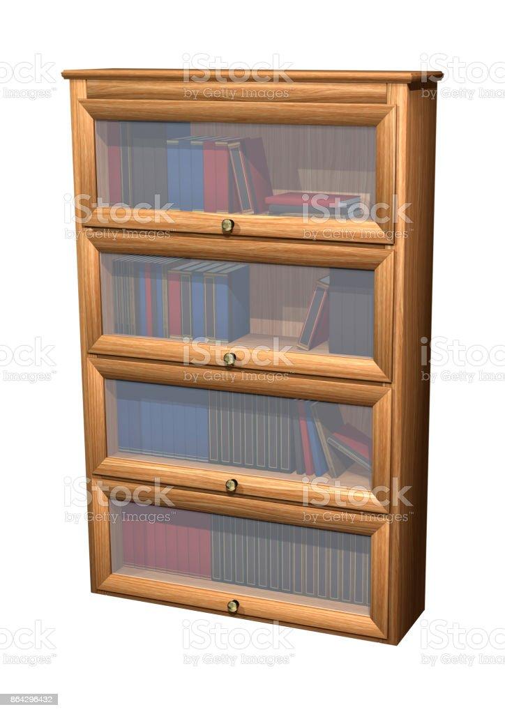 3D rendering bookshelf on white royalty-free stock photo