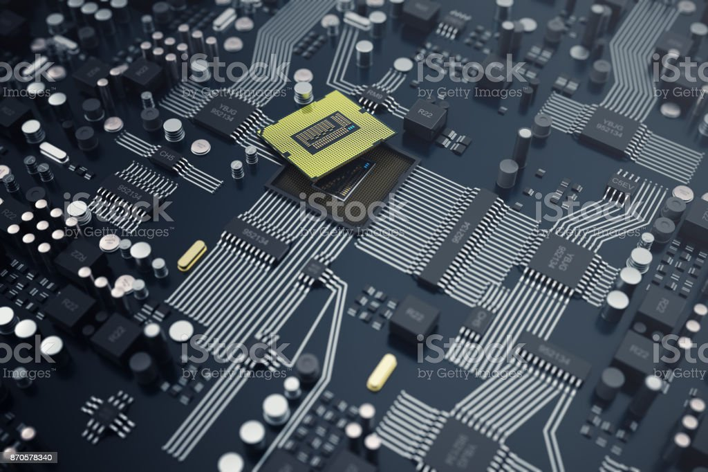 3drendering Zentralen Computer Prozessoren Cpu Konzept ...