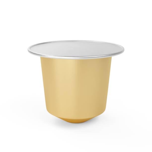 3D Rendering klassische Kaffee Kapsel isoliert auf weiss – Foto